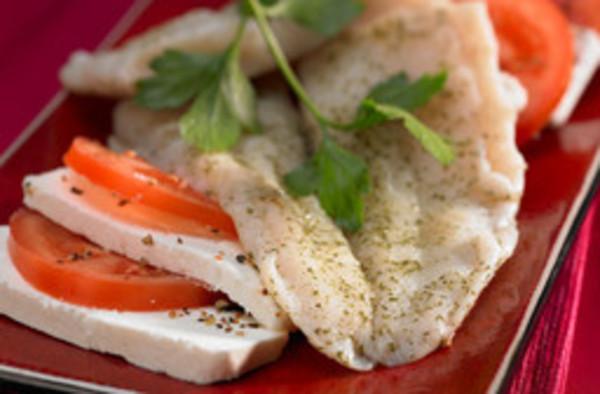 Pangasiusfilet an Weißweinsauce