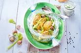 Hähnchenbrust  auf Gemüsebett