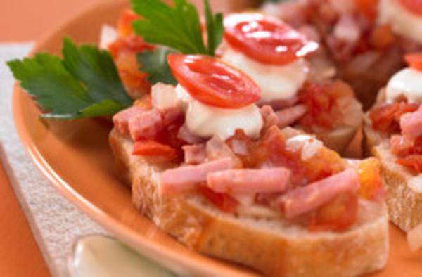 Schinken-Tomaten-Baguette