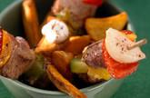 Schweinefleisch-Paprika-Spieße