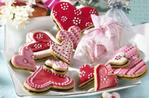 Rosa Muttertagsherzen