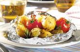 Grillkartoffeln  mit feuriger Tomaten-Füllung
