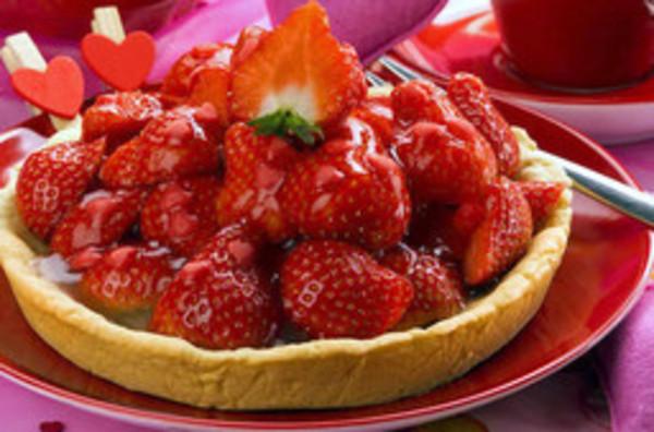 Herzliche Erdbeertörtchen